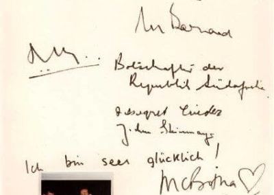 Guest book entry Christiaan Barnard