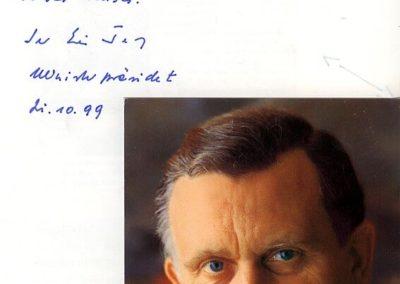Guest book entry Erwin Teufel