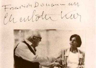 Guest book entry Friedrich Duerrenmatt