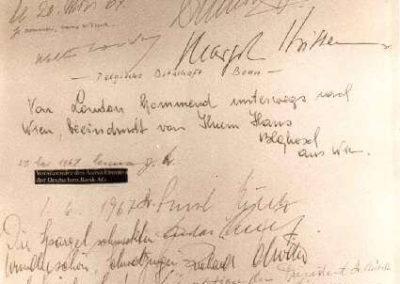 Guest book entry Hermann Josef Abs