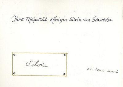 Guest book entry Königin Silvia von Schweden